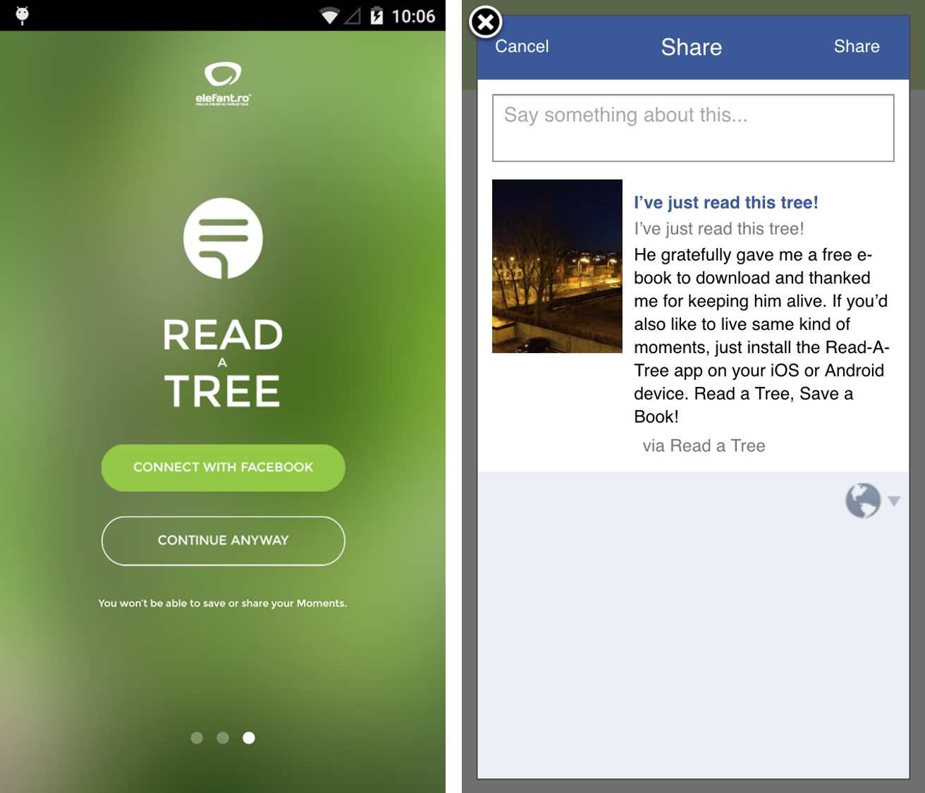 Elefant Read a Tree Mobile App