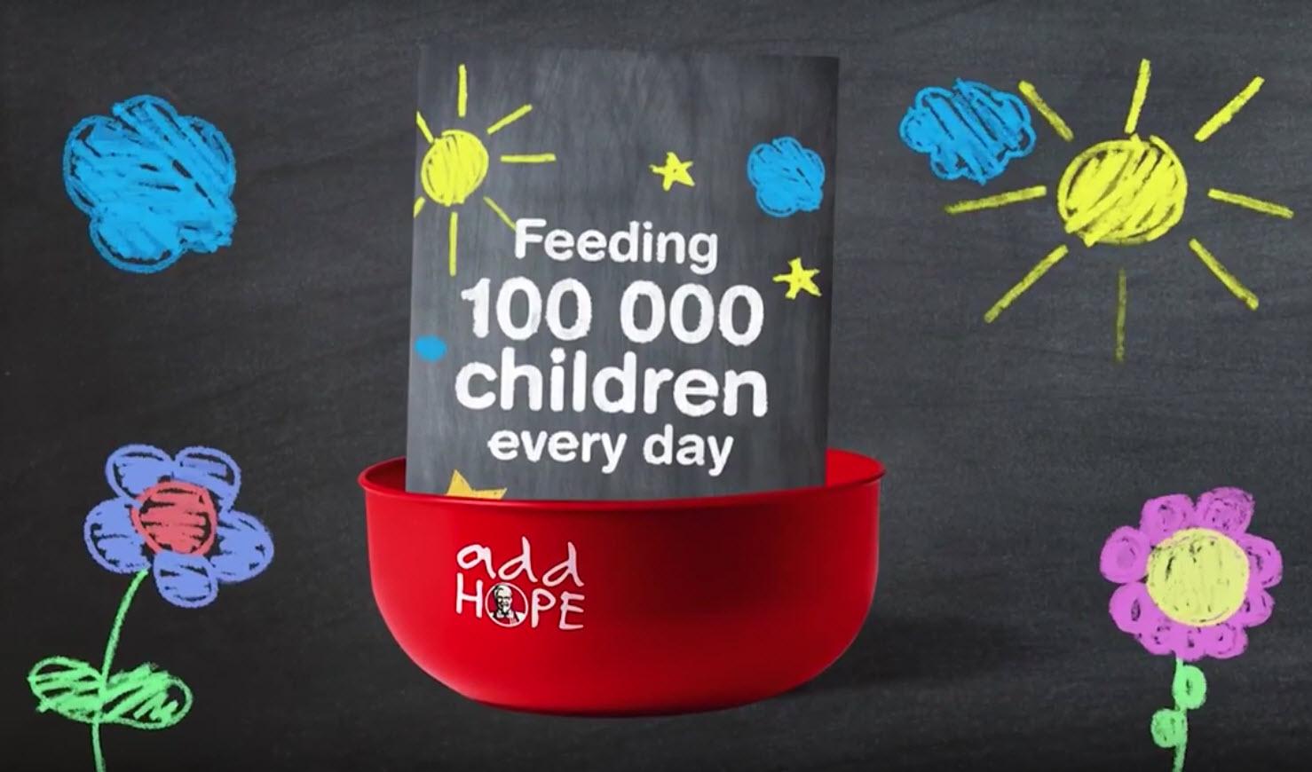 KFC 'Add Hope' Campaign World Hunger Day (2015)