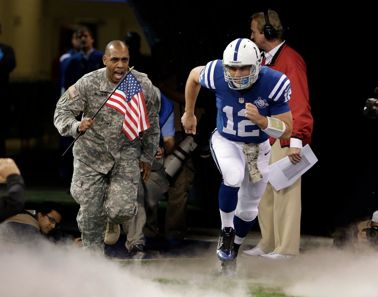 NFL Salute to Service with Military