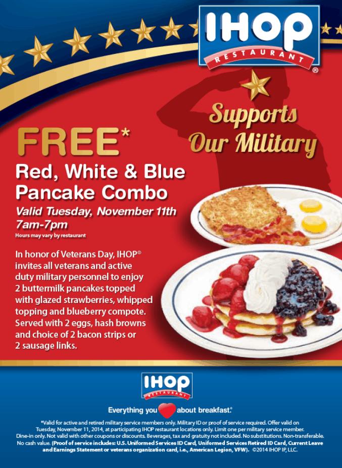 IHOP Veterans Day