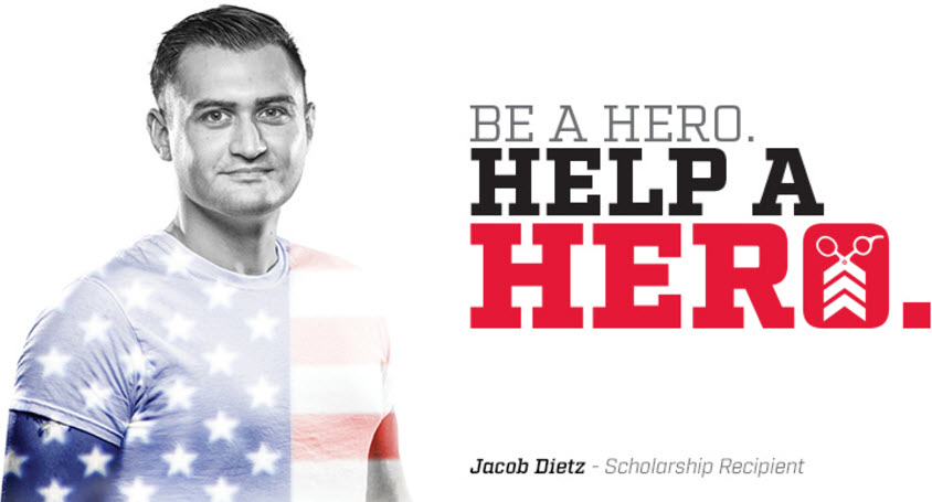Sport Clips. Be a Hero. Help a Hero.