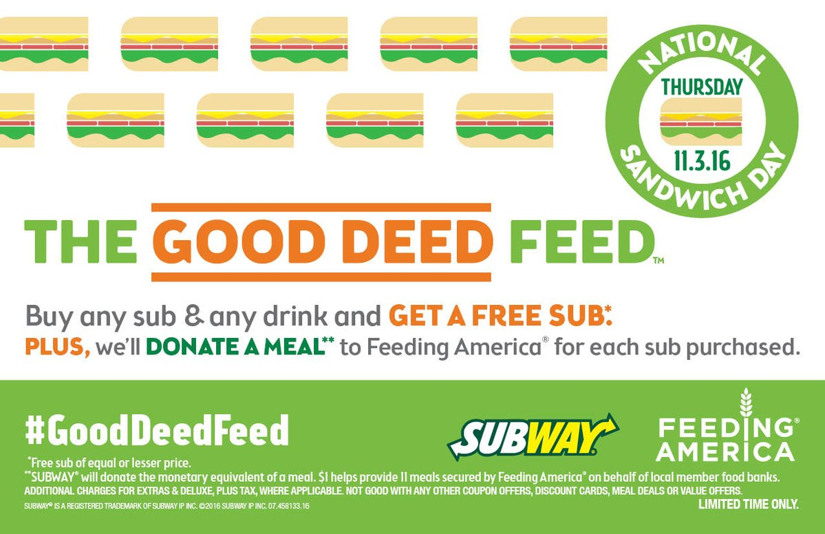 Subway Feeding America