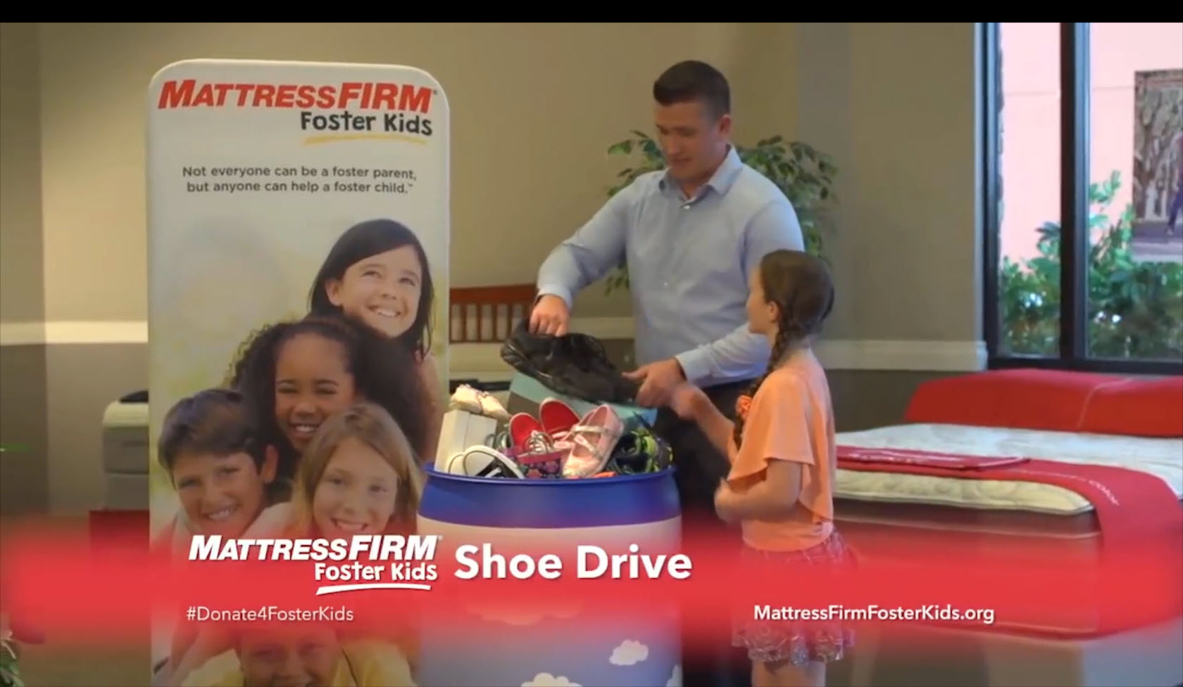 Mattress Firm Foster Kids Shoe Drive